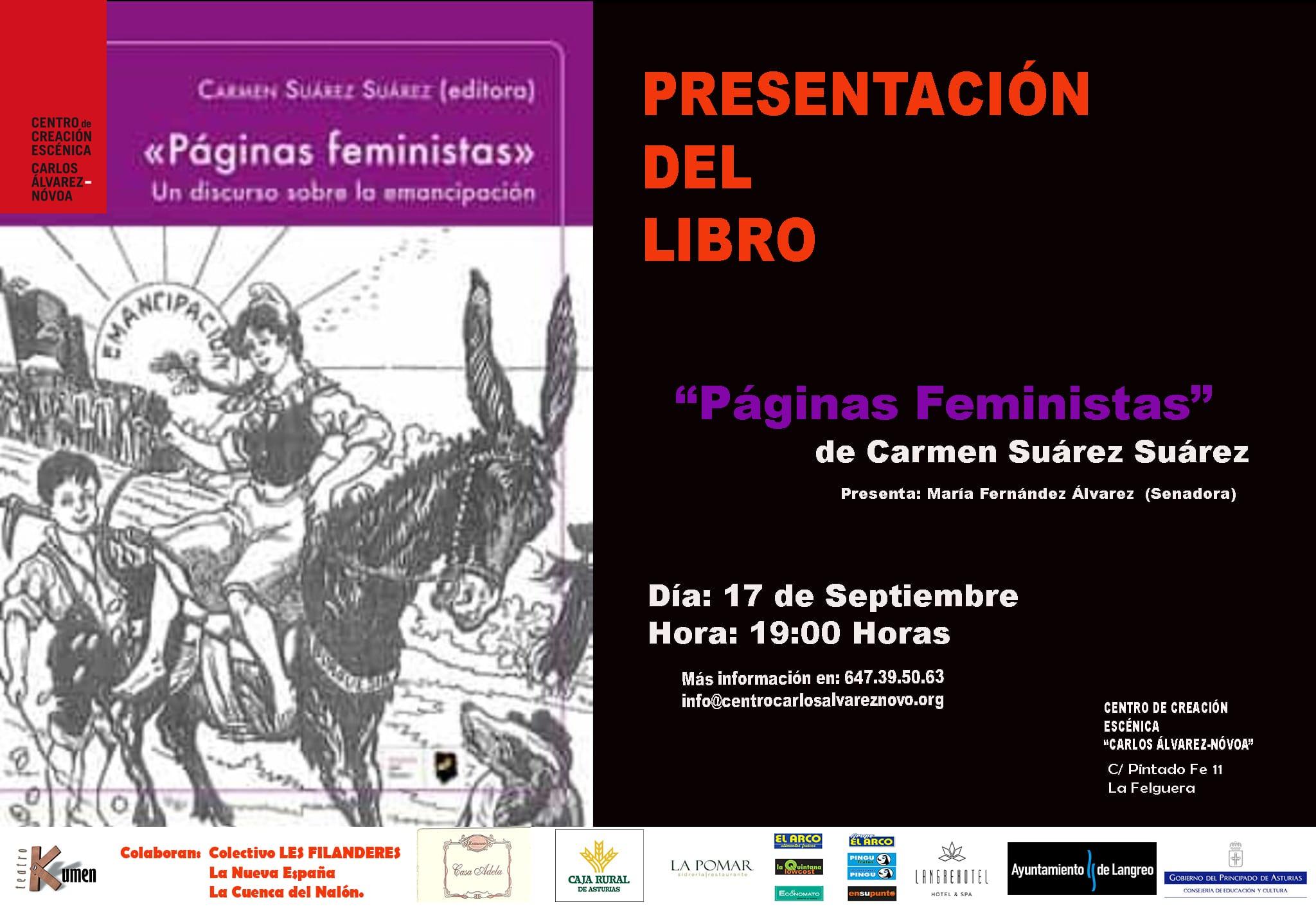 Presentación del Libro «Paginas Feministas. Un discurso Sobre la Emancipación»