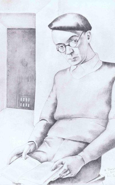 Julián Zugazagotia, retratado por Luis Quintanilla Isasi en la cárcel modelo de Madrid (1934)