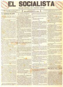 Portada de El Socialista (12-3-1886)